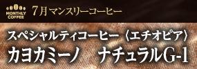 7月マンスリーコーヒー 〈エチオピア〉カヨカミーノ ナチュラルG-1
